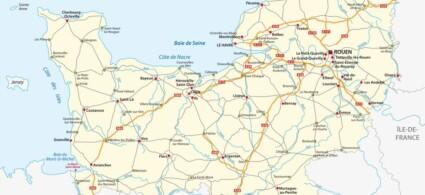 Mappa della Normandia