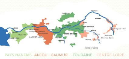 Mappa della Valle della Loira